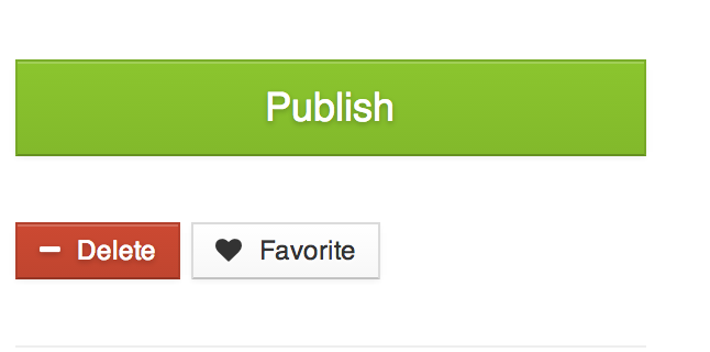 A cool large publish button!