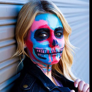 Face painted by Bradley Theodore