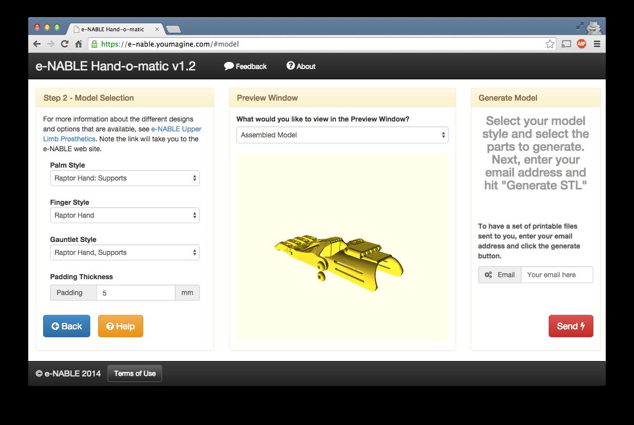 Hand-o-Matic: Easily create customized 3D printable prosthetics