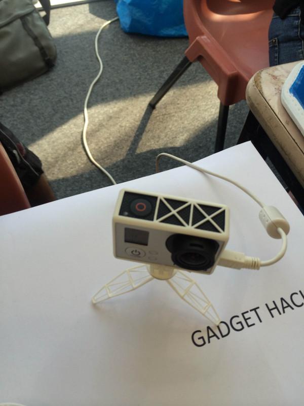 3D printed GoPro desk mount