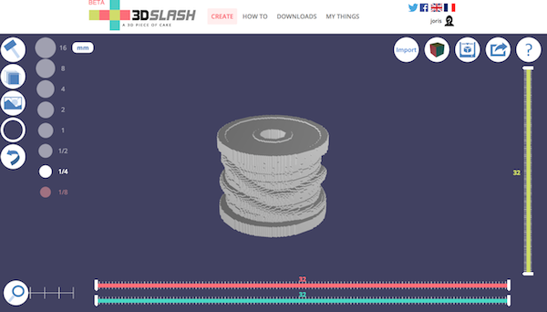 3DSlash a browser based 3D modeling tool