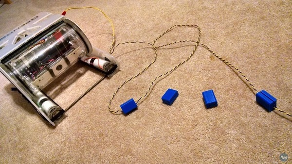3D Printed ROV Tether floats