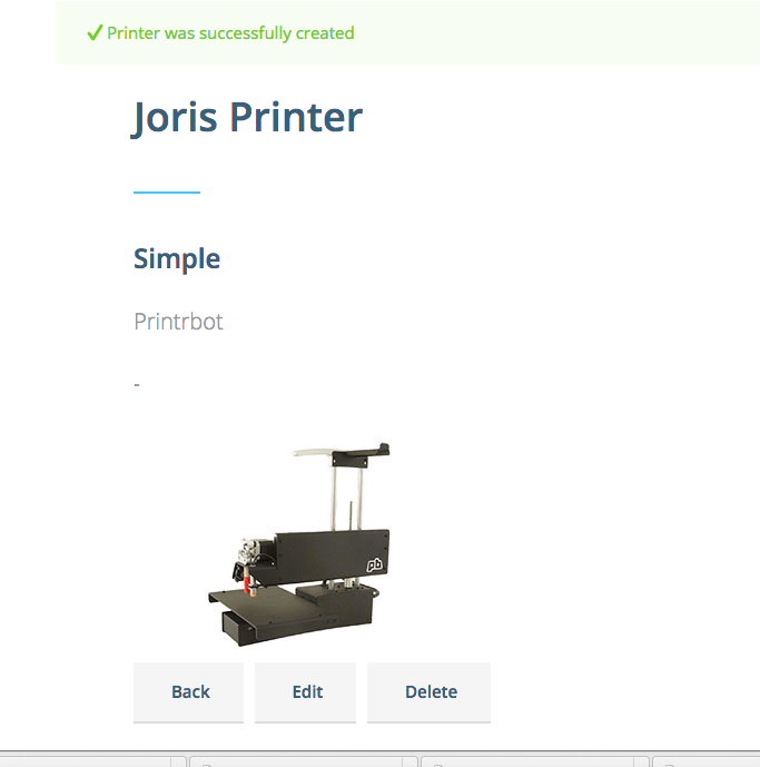 Manage your printers in your profile.