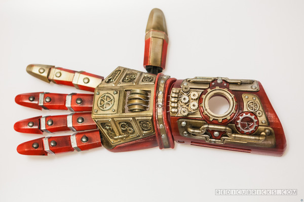 Steampunk 3D printed prosthetic hand.