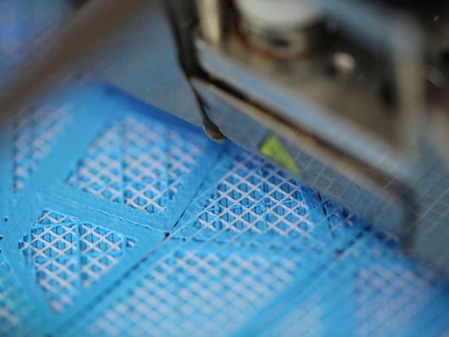 Here you can see the Digital Fabric being 3D printed.