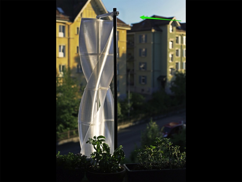 Vertical Axis Ugrinsky Wind Turbine VAWT by Robotobi