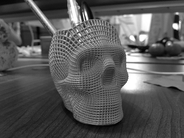 Wireframe Skull Pencil Holder For The Love of Dog by philnelson