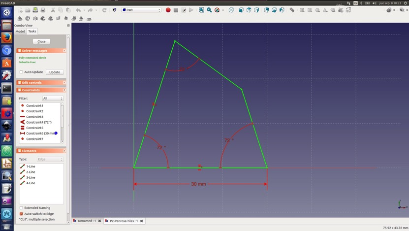 Building tile in freecad
